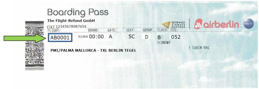 Wo finde ich den Buchungscode bei Air Berlin