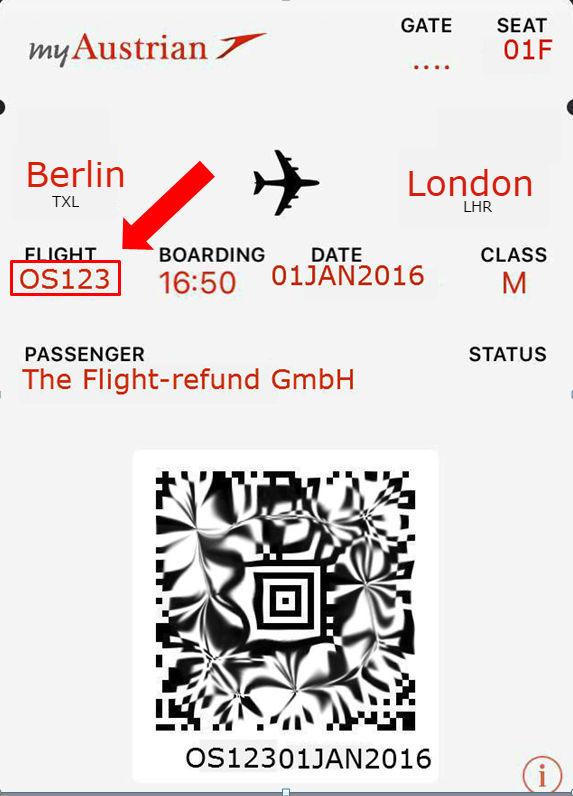 Wo finde ich den Buchungscode bei Austrian Airlines