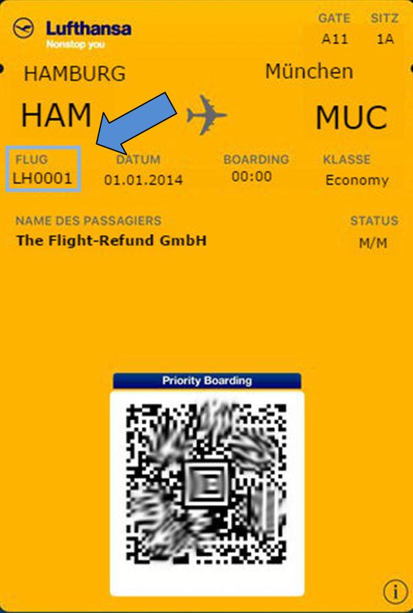 Wo finde ich den Buchungscode bei Lufthansa