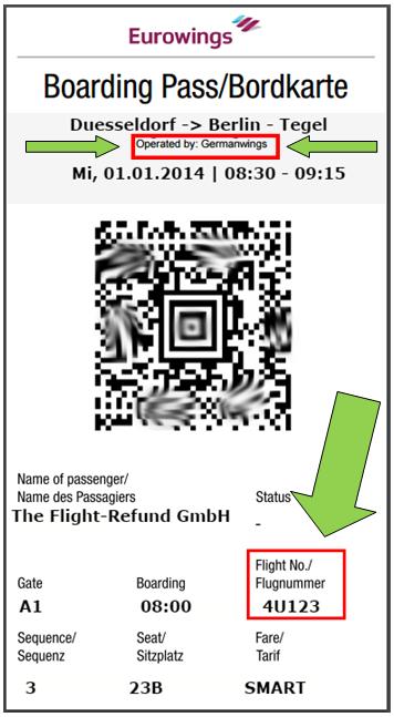 Wo finde ich den Buchungscode bei Germanwings